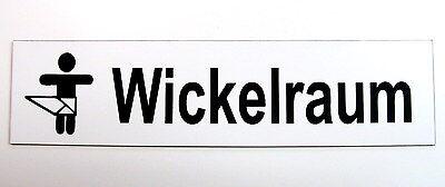 Möbel & Wohnen Werbung & Reklame Wickelraum,türschild,kunststoff,16 X 4 Cm,baby,piktogramm,gravur,toilettenschild Produkte HeißEr Verkauf