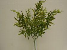 "2 Bushes Mini Fern 7 Stems Artificial Plastic 22"" Plant Greenery 5935GN"
