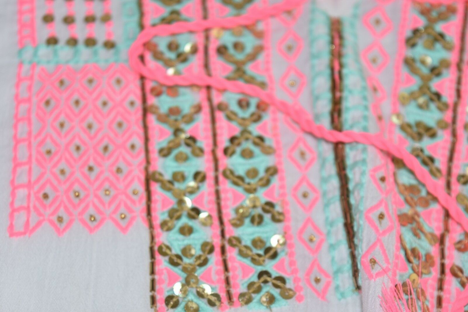 Nuovo Nuovo Nuovo Lilly Pulitzer Lucinda Caftano Resort Bianco Prendisole Ricamo rosa S M 3296e9