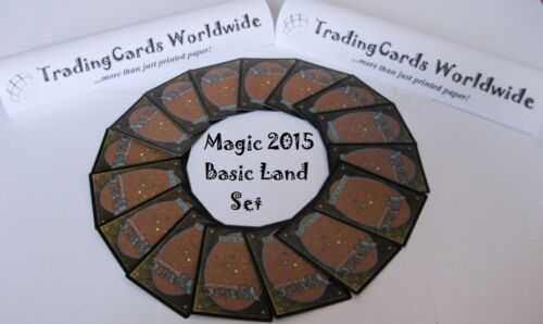 Magic 2015 M15 Complete Basic Land Set //// 20|20 //// NM //// engl.