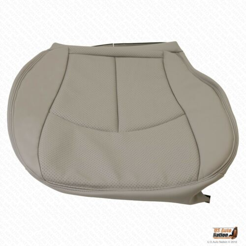 2004 Mercedes-Benz E320 E500 Driver Bottom Perforated Leather Seat Cover Gray