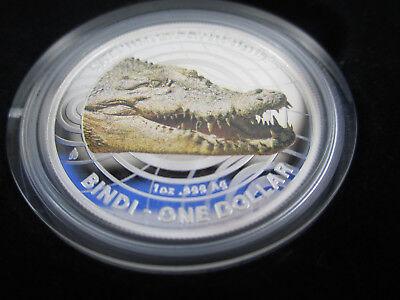 2009 AUSTRALIAN SALTWATER CROCODILE 1 oz SILVER PROOF COIN