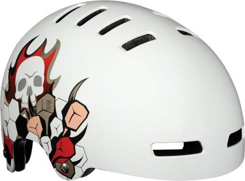 BMX Lazer Street Skate Helmet White Skull Sz L 59-61cm