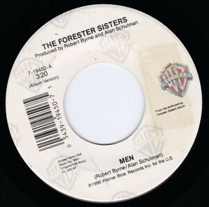 """THE FORESTER SISTERS - Men 7"""" 45"""