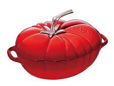 Staub Kochgeschirr Cocotte Tomate oval Bräter Kochtopf Gusseisen Kirschrot 25cm