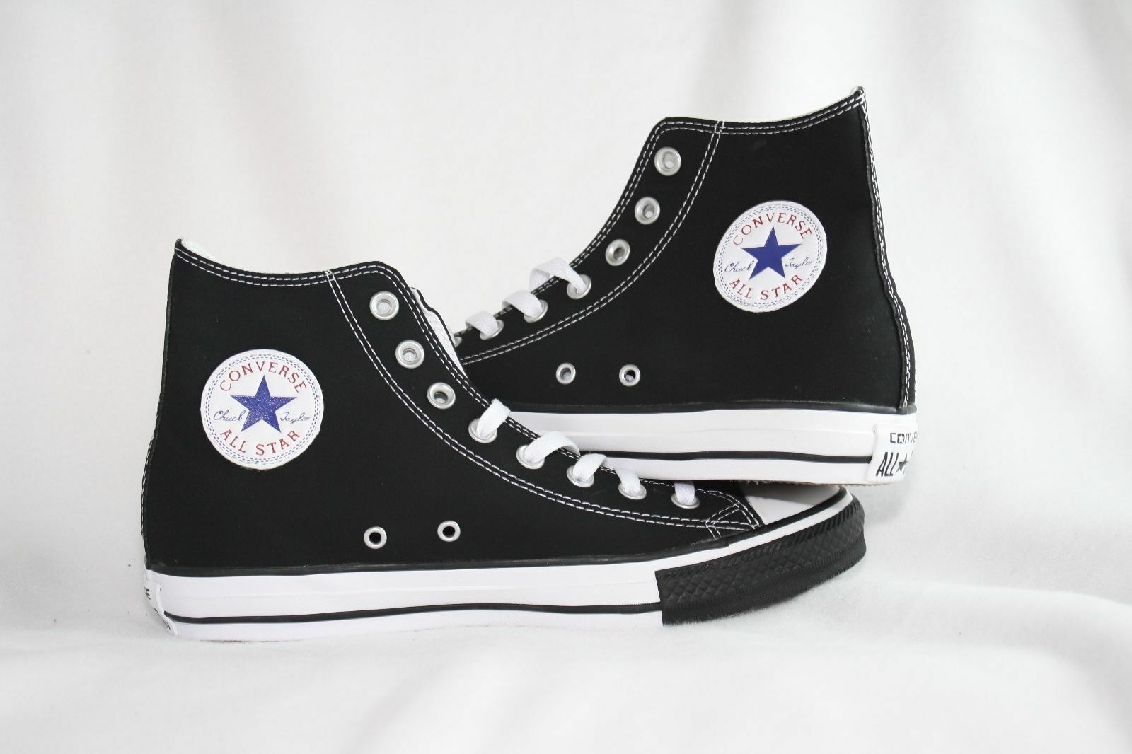 CONVERSE ALL STAR CHUCK TAYLOR HI SUEDE Uomo SHOES BLAK FX 114416F SIZE 10.5 NEW