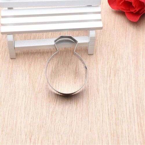 diamond ring stainless steel cutter biscuit cookie mold baking decor tool RS