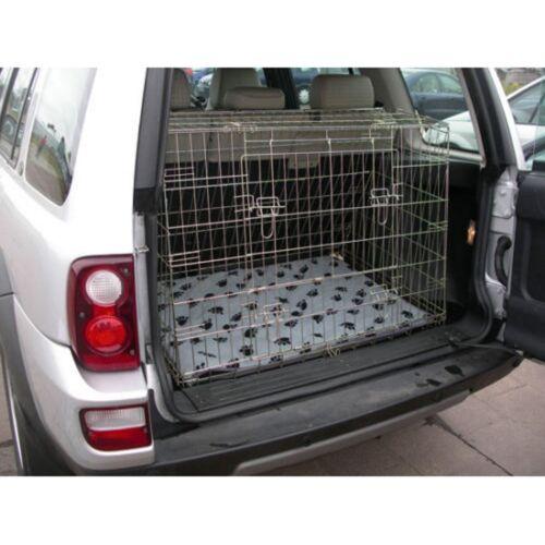 Pet Mundo Nuevo Land Rover Freelander 97-06 inclinado Coche Viaje Cachorro Perro jaula de arranque