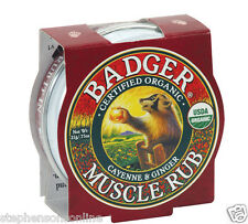 Badger Muscle Rub Balm Certified Organic Cayenne & Ginger Soothes & Relaxes 21g