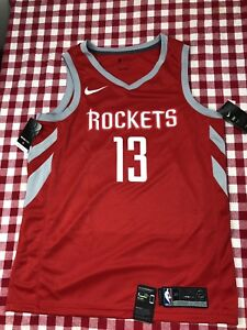 sports shoes 75299 67c05 Details about NIKE NBA HOUSTON ROCKETS JAMES HARDEN JERSEY ICON EDITION  AUTHENTIC (MEN 56) XXL