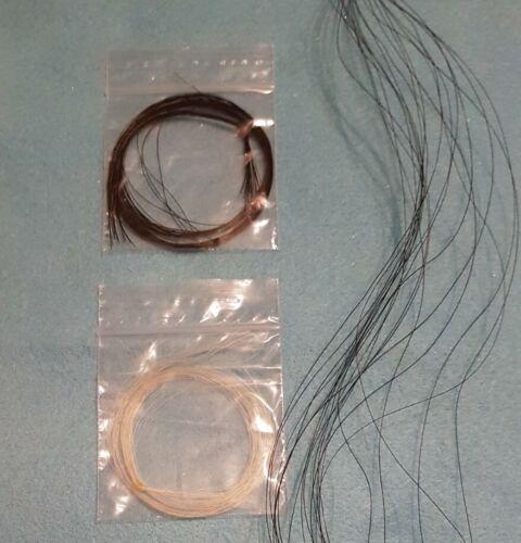Genuine Horse Tail Hair For Needle Felting//Crafting BLACK 20 strands 30cm