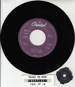BEATLES-Ticket-To-Ride-amp-Yes-It-Is-RARE-45-rpm-7-034-VINYL-RECORD-BRAND-NEW
