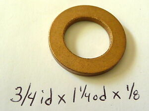 "Oilite Thrust Washer Bronze New 3/4"" id Bushing Brass bearing spacer sleeve bush"