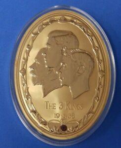 Edward-VIII-The-3-Kings-Large-Oval-Medallion-1936-Gold-plated-Swarovski-crystal