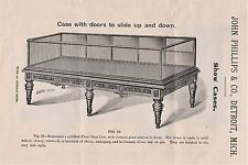 RARE Advertising Catalog / Flyer 1880s Phillips Show Case Store Fixtures Detroit