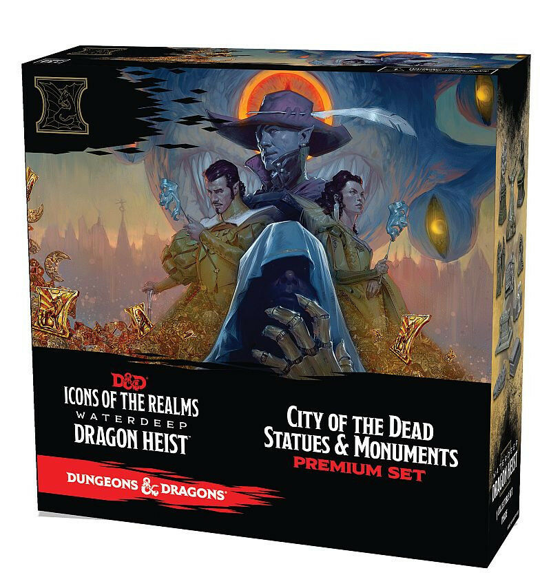 D&D Icons of the Realms Waterdeep Dragon Heist Set 9 city of the dead statues