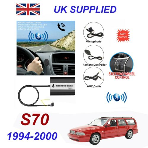 For Volvo S70 Bluetooth Hands Free Phone AUX Input MP3 USB Charger Module SC-XXX