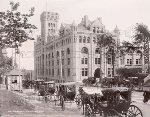 Canadian Pacific Railway Station Montreal PQ 1896 photo CHOICE 5x7 or request 8x