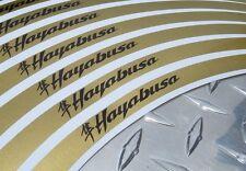 GOLD Suzuki Hayabusa Kanji Logo Rim Stripes / Tape GSXR GSX1300R BUSA
