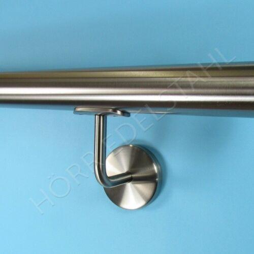 120 cm  2x Halter Edelstahl Handlauf Wand-Geländer 1,2m