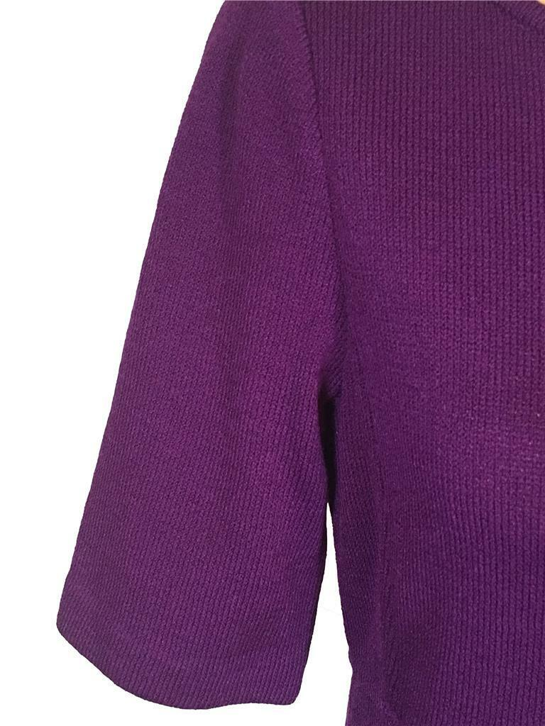 NWT ST. ST. ST. JOHN Knits Amethyst Deep Purple Santana Knit Sheath Dress sz 4  1165 59cee7