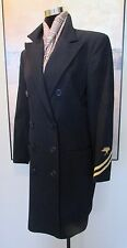 Ralph Lauren Blue Label Navy Wool Military Jacket 3/4 Length USA Size 8 MINT