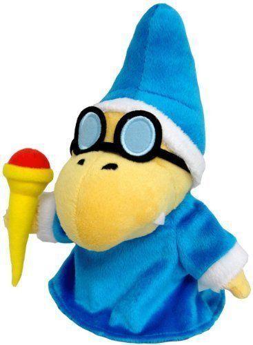 "New Blue Super Mario Bros Plush Doll Soft Toy Doll Kamek Magikoopa 7/"" x Gift"