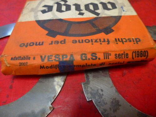 kit embrayage VESPA 150 GS 3 eme serie 1960 ADIGE NOS neuf de stock ancien