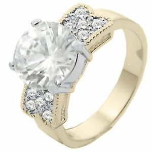 18K-GOLD-EP-3-5CT-DIAMOND-SIMULATED-ENGAGEMENT-RING-sizes-5-11-u-choose-the-size