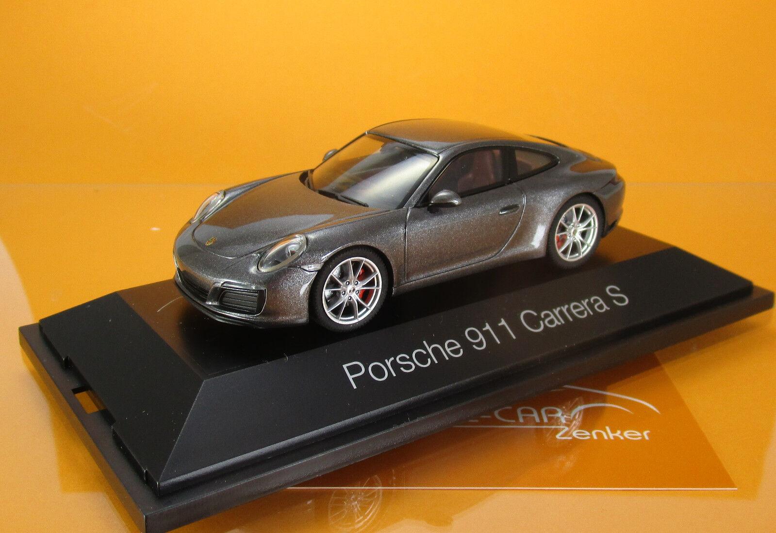 Herpa 070973 Porsche 911 Carrera Coupé S Achatgris Métallique scale 1 43