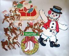 Vintage The BEISTLE Co. USA CHRISTMAS Decorations Santa Sleigh Reindeer Snowman