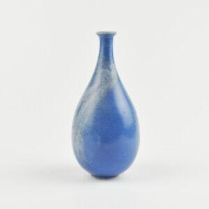 Vaso-Wittrin-Ceramica-Ganderkesee-Blu-Bianco-Vintage-17cm-Altezza-295g