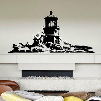Lighthouse Wall Decal sticker vinyl decor mural bedroom kitchen art sea ocean
