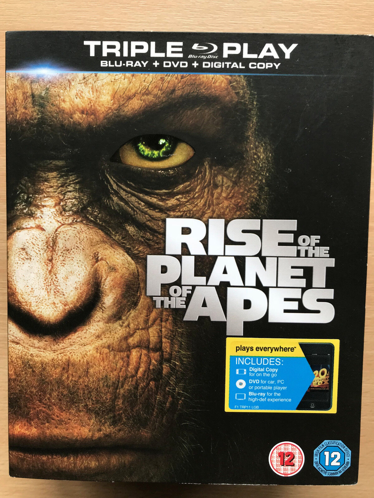 Rise Of The Planet Of The Apes 2011 Sci Fi Film Movie Uk Blu Ray With Slipcover For Sale Online