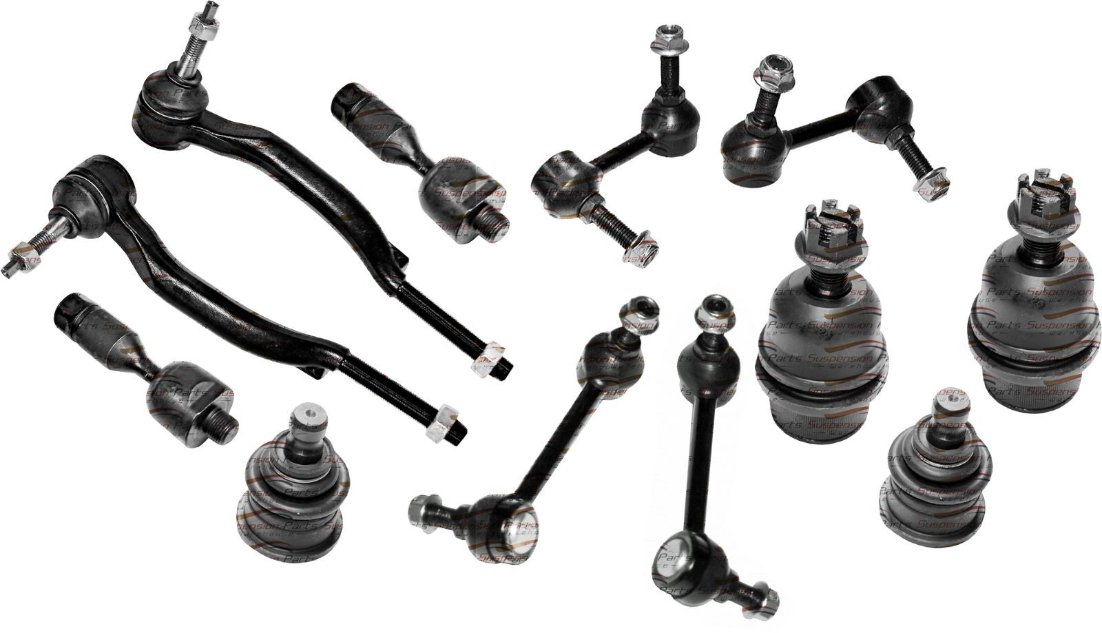2002 CHEVY TRAILBLAZER INNER TIE ROD BALL JOINT SWAY BAR ...