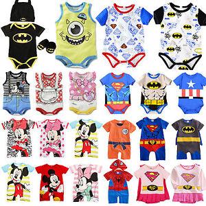 664c55834 Newborn Baby Boys Girls Marvel Hero Cute Romper Jumpsuit Bodysuit ...