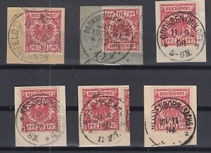 X2266-GERMANY-REICH-MI-47-x6-USED-WITH-SAXONY-CANCELS