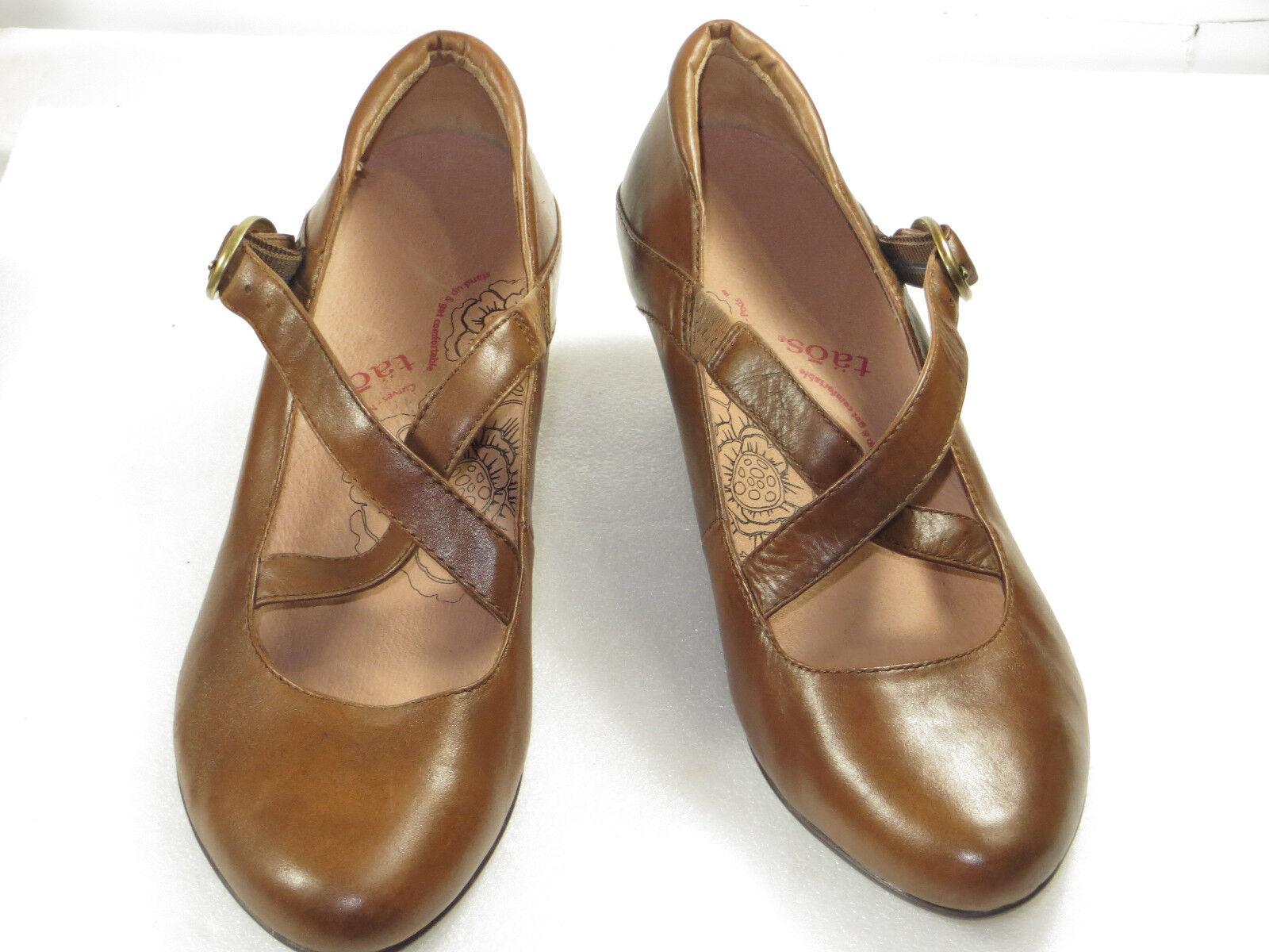 GR8  Womens TAOS block Heels mary janes cross leather,comfy,walk,9 M Pumps  145