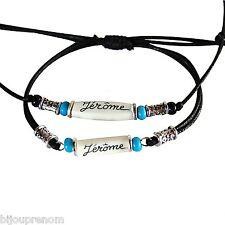 Collier et bracelet indiens personnalisés. Bijoux homme  avec prénom au choix
