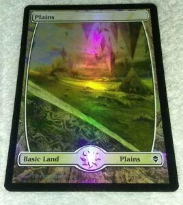 1x-FOIL-Plains-Zendikar-MtG-MAGIC-THE-GATHERING-Land-Common-x1-LP