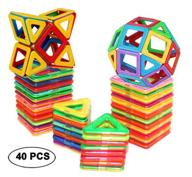 76 pcs Educational Magnetic Sticks Building Blocks Toy,Tiles Construction Block