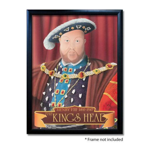 KINGS HEAD PUB SIGN POSTER PRINTHome BarMan CavePub Memorabilia