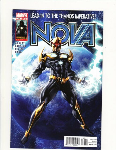 NOVA #36 MARVEL 2010 SUPER HTF LOW PRINT FINAL ISSUE LEAD IN THANOS IMPERATIVE!