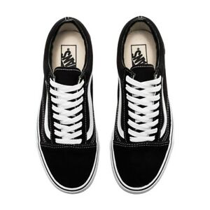 160a9d5630 Details about VAN Old Skool Skate Shoes Black White All Size Classic Canvas  UK3-UK9.5 Eu 36-44