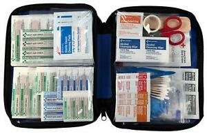 First Aid Kit All-purpose Soft Case w/Zipper 299-Pieces Car Home Boat Camping