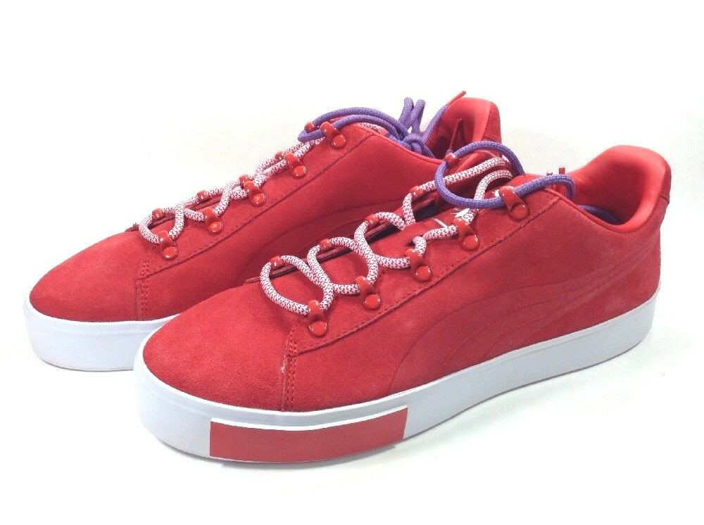 Puma X Daily Paper Collaboration Platform Suede Limited shoes Men Size 10.5 Red