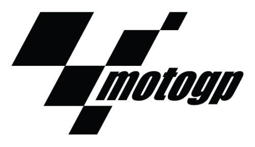 Decal Motorsport Bike Black MotoGP Logo 3M Scotchlite Reflective Sticker
