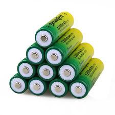 10PCS 14500 3.7V 1200mAH BRC Lithium Rechargeable Li-ion Battery For Flashlight