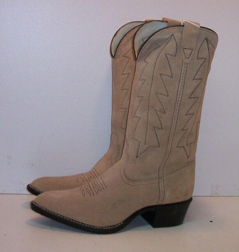 DURANGO Beige Suede Western Boots Women's Size 6 D