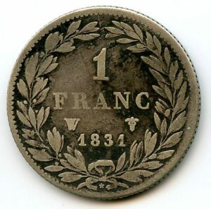 France Louis-Philippe The1st 1 Franc 1831 W Lille F.209/12